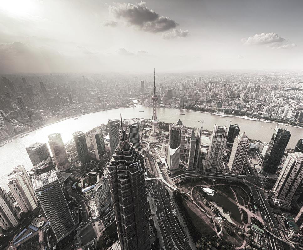 上海城市 黑白