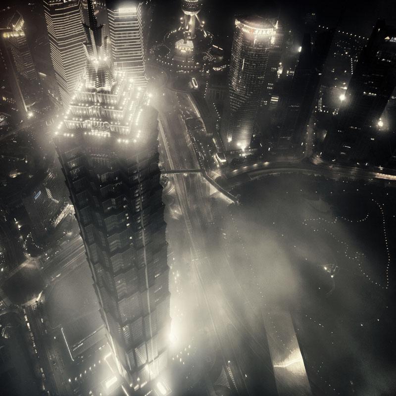 上海经贸黑白建筑摄影