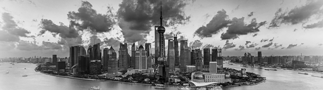 上海外滩黑白