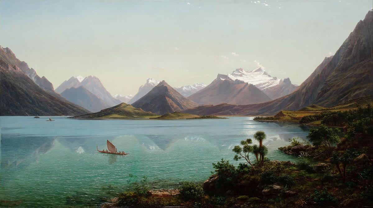 山与湖 新西兰