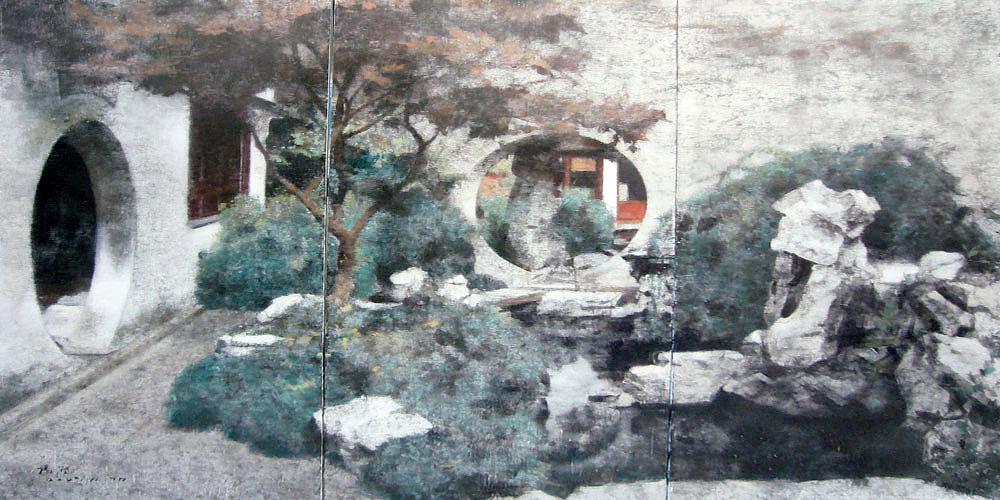 杨澄原作 风景庭院