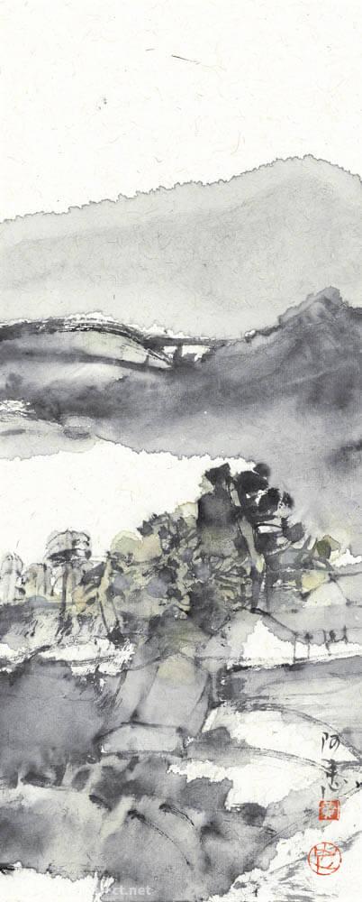 黄阿忠 山水风景长条