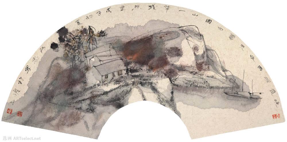 黄阿忠 山水扇面5