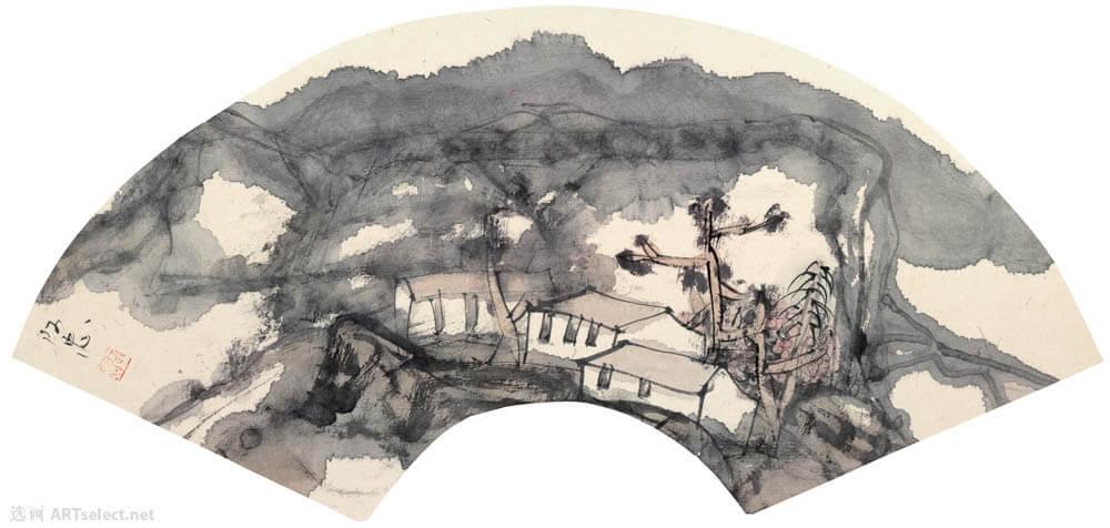 黄阿忠 山水扇面6